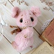 Куклы и игрушки ручной работы. Ярмарка Мастеров - ручная работа Поросенок тедди авторская игрушка. Handmade.