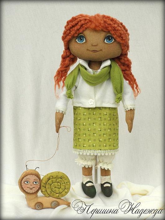 Коллекционные куклы ручной работы. Ярмарка Мастеров - ручная работа. Купить Юленька с улиточкой Кукла Рост 45см Интерьерная кукла Авторская кукла. Handmade.