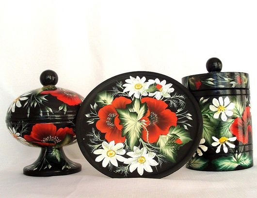 Kitchen handmade. Livemaster - handmade. Buy A set of dishes ' wild flowers'.Gift, gift set
