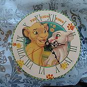 """Для дома и интерьера ручной работы. Ярмарка Мастеров - ручная работа Часы детские """"Король Лев"""". Handmade."""