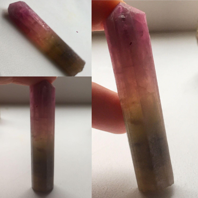 La turmalina polihromnyj Elbait cristal 68g, Minerals, Moscow,  Фото №1