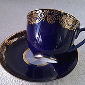 Винтаж handmade. Livemaster - original item A couple of tea. LFZ. Cobalt.. Handmade.
