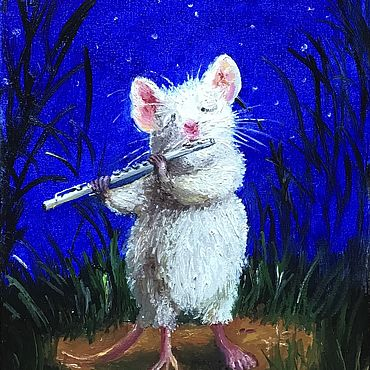 Картины и панно ручной работы. Ярмарка Мастеров - ручная работа Мышиная мелодия для флейты. Handmade.