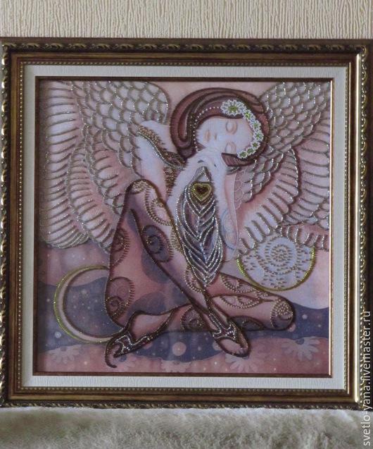 Картина из бисера `Ангел`, Картина для украшения Вашего интерьера, Картина в подарок