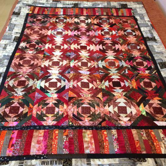 Текстиль, ковры ручной работы. Ярмарка Мастеров - ручная работа. Купить Розовый восход лоскутный плед. Handmade. Лада, жизнь