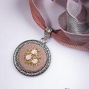 Украшения handmade. Livemaster - original item Embroidered pendant, Glue de Dijon. Handmade.