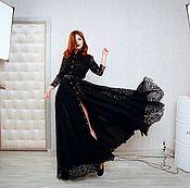 Одежда handmade. Livemaster - original item Lace floor-length dress. Handmade.