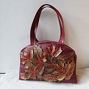 Сумки и аксессуары handmade. Livemaster - original item Custom-made leather bag with applique.. Handmade.