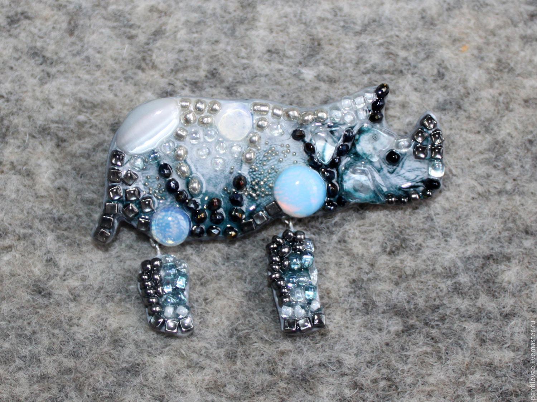 Brooches handmade. Livemaster - handmade. Buy Nosologic.Brooch, rhino