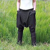 Одежда handmade. Livemaster - original item pants breeches with a skirt of suiting stretch fabric with pockets bitter shock. Handmade.