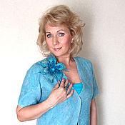 """Одежда ручной работы. Ярмарка Мастеров - ручная работа Валяный жакет """" Голубой цветок"""". Handmade."""
