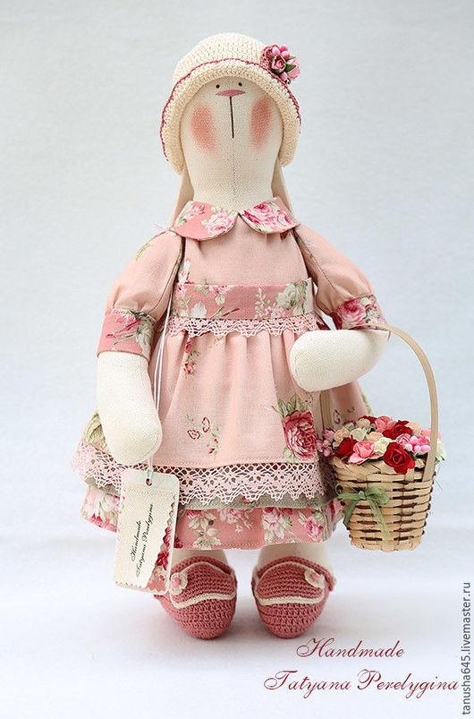 Куклы Тильды ручной работы. Ярмарка Мастеров - ручная работа. Купить Зайка в розовом.. Handmade. Зайка, ручная работа