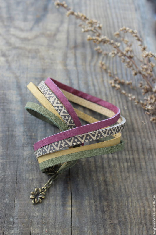 """Браслеты ручной работы. Ярмарка Мастеров - ручная работа. Купить Браслет из кожи  """"Африка"""". Handmade. Комбинированный, женский браслет"""