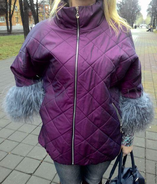 """Верхняя одежда ручной работы. Ярмарка Мастеров - ручная работа. Купить Зимняя куртка """"Запыленная фуксия"""". Handmade. Фуксия, мех"""