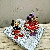 Винтаж handmade. Livemaster - original item Mickey and Minnie mouse pair of brooches. Handmade.