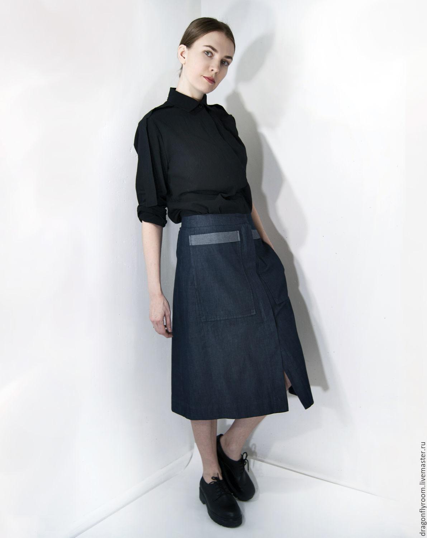 Офисная миди юбка