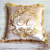 Для дома и интерьера handmade. Livemaster - original item Pillow embroidered decorative velvet. Handmade.