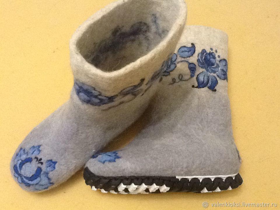 Women 'Gzhelka', Felt boots, Volgodonsk,  Фото №1