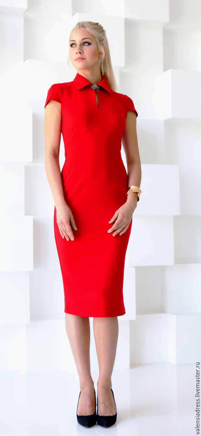 Dress bodycon red Jersey, Dresses, St. Petersburg,  Фото №1
