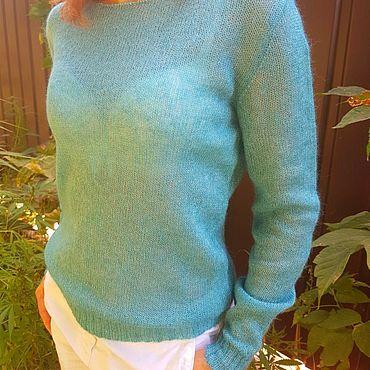 Одежда ручной работы. Ярмарка Мастеров - ручная работа Пуловеры: Кид мохер на шелке. Handmade.