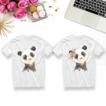 Одежда ручной работы. Ярмарка Мастеров - ручная работа Детские футболки на заказ Панды. Handmade.