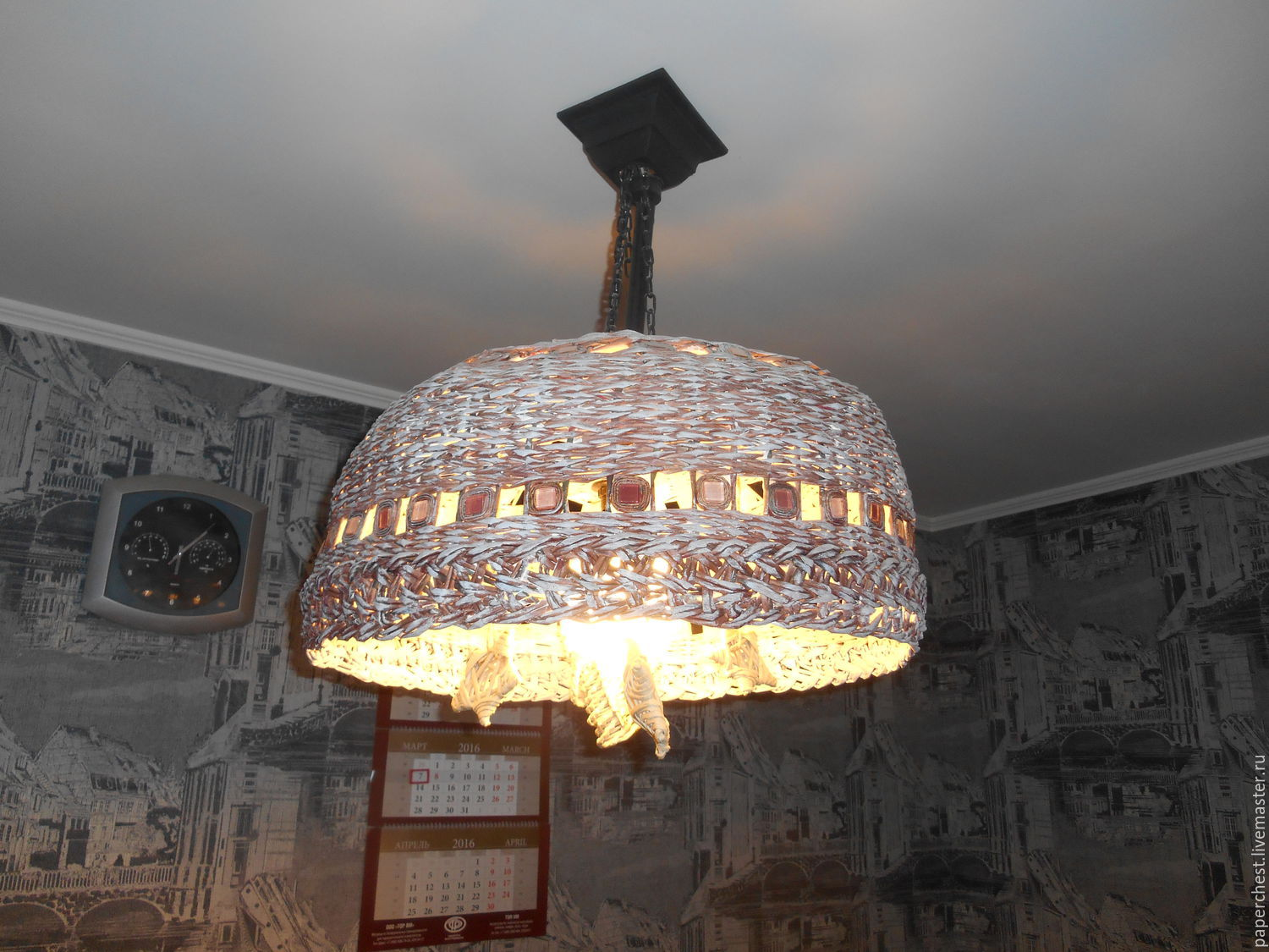 wicker lampshade large size in the style of Provence, Lampshades, Moscow,  Фото №1