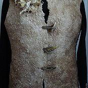 """Одежда ручной работы. Ярмарка Мастеров - ручная работа Жилет валяный """"Цветок пустыни"""". Handmade."""