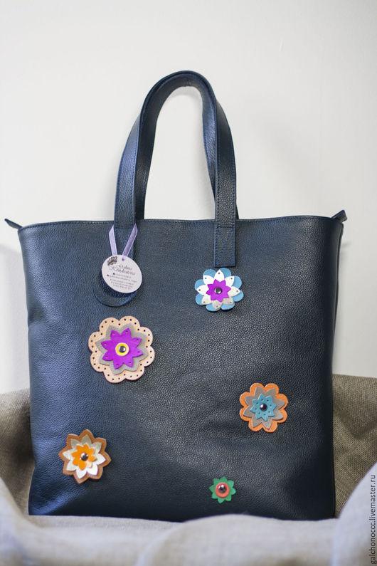 Женские сумки ручной работы. Ярмарка Мастеров - ручная работа. Купить Сумка женская из натуральной кожи Flowers. Handmade.