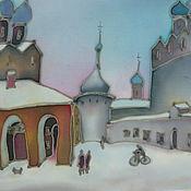 Картины и панно handmade. Livemaster - original item batik on silk Rostov the Great. Handmade.