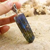 Украшения ручной работы. Ярмарка Мастеров - ручная работа 2. Кулон кристалл с травами (синий). Handmade.