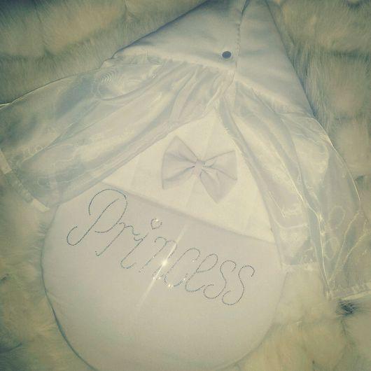 """Для новорожденных, ручной работы. Ярмарка Мастеров - ручная работа. Купить Конверт на выписку """"принцесса"""". Handmade. Белый, конверт на выписку"""