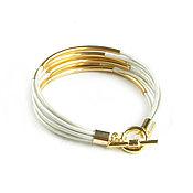 Украшения handmade. Livemaster - original item White leather bracelet