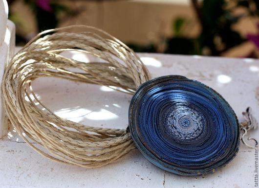 """Кулоны, подвески ручной работы. Ярмарка Мастеров - ручная работа. Купить кулон из полимерной глины """"суховей"""". Handmade. Синий, кулон"""