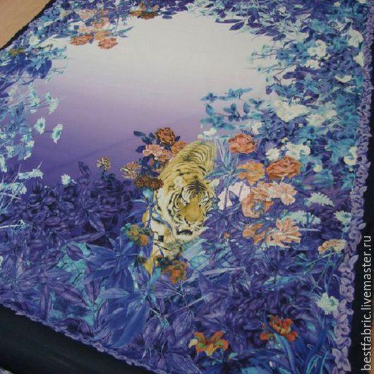 ткань купонная сток S. FERRAGAMO , Италия хлопок 100% шир. 140 см, купон 140 см цена 1450 р/м
