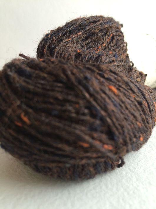 Вязание ручной работы. Ярмарка Мастеров - ручная работа. Купить Tussah Tweed  от BC GARN. Handmade. Тёмно-синий