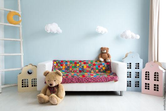 """Пледы и одеяла ручной работы. Ярмарка Мастеров - ручная работа. Купить Для новорождённого ватное одеяло""""Пёстрое""""лоскутное. Handmade. Русский стиль"""