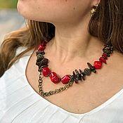 Украшения handmade. Livemaster - original item Necklace: Decoration on the neck. Boho necklace natural stones. Stylish necklace. Handmade.