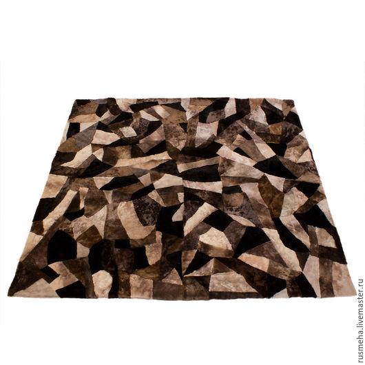Текстиль, ковры ручной работы. Ярмарка Мастеров - ручная работа. Купить Ковер из меха овчины КОД: 511. Handmade. Коричневый