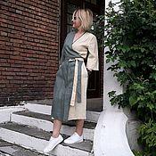 Платья ручной работы. Ярмарка Мастеров - ручная работа Льняное платье на-запах. Handmade.