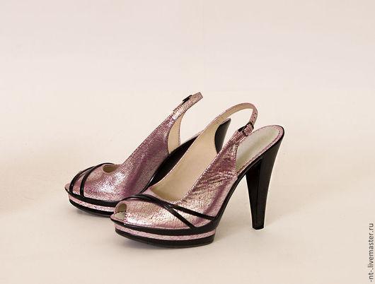 Обувь ручной работы. Ярмарка Мастеров - ручная работа. Купить Босоножки Розовое сияние. Handmade. Бледно-розовый, туфли