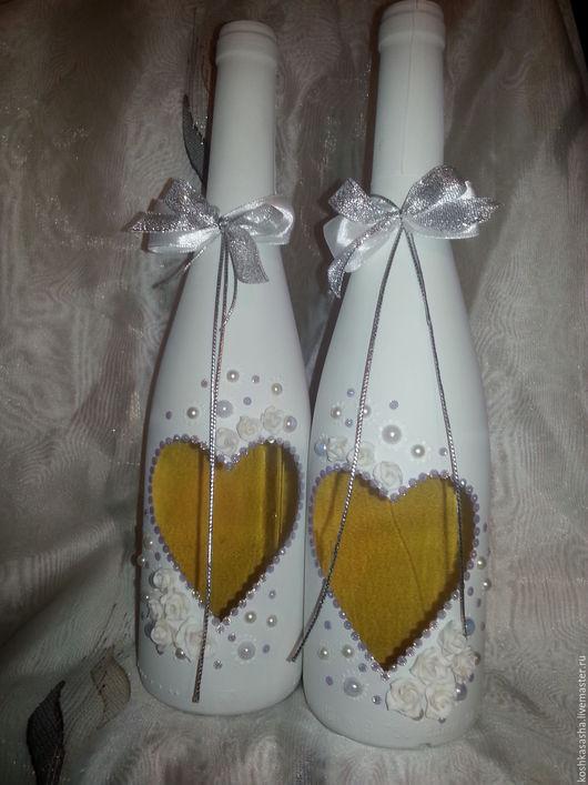 """Свадебные аксессуары ручной работы. Ярмарка Мастеров - ручная работа. Купить """"Свадьба в белом"""". Handmade. Белый, невинность, розы, серебро"""