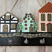 Для дома и интерьера handmade. Livemaster - original item Spring housekeeper in the city. The housekeeper wall. decor polymer clay.. Handmade.
