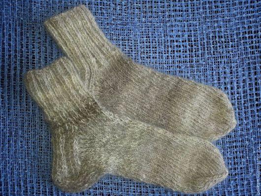 Носки, Чулки ручной работы. Ярмарка Мастеров - ручная работа. Купить Носки из собачьей шерсти мужские. Handmade. Серый, шерсть