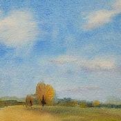 Картины и панно ручной работы. Ярмарка Мастеров - ручная работа В поле облака. Handmade.