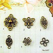 Материалы для творчества handmade. Livemaster - original item Pendant connector for earrings and pendants and Art.KP23. Handmade.