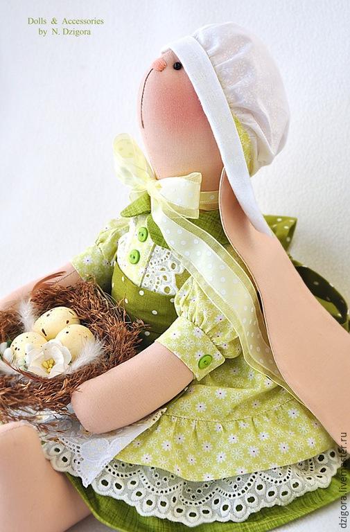 Игрушки животные, ручной работы. Ярмарка Мастеров - ручная работа. Купить Зайка текстильная Липовый цвет. Пасхальная зайка. Handmade.