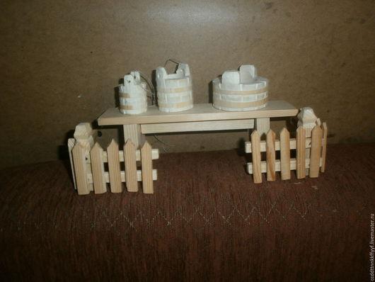 Миниатюра ручной работы. Ярмарка Мастеров - ручная работа. Купить заборчик деревянный. Handmade. Белый, деревянная миниатюра