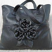Сумки и аксессуары handmade. Livemaster - original item Bag leather with flowers art.1-145. Handmade.