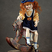 """Куклы и игрушки ручной работы. Ярмарка Мастеров - ручная работа Авторская кукла девочка на лошадке """"Покатай меня!"""". Handmade."""