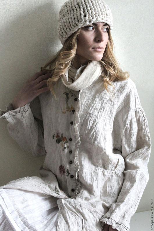 Платья ручной работы. Ярмарка Мастеров - ручная работа. Купить Платье-пальто Гербарий-2. Handmade. Бежевый, платье, подарок